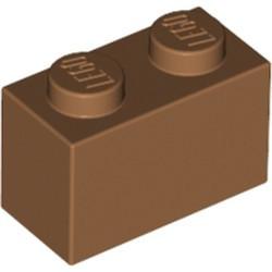 Medium Nougat Brick 1 x 2