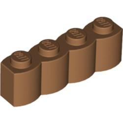 Medium Nougat Brick, Modified 1 x 4 with Log Profile