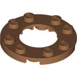 Medium Nougat Plate, Round 4 x 4 with 2 x 2 Hole - new
