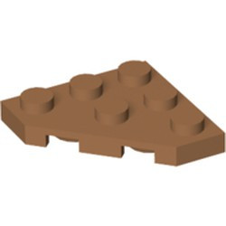 Medium Nougat Wedge, Plate 3 x 3 Cut Corner