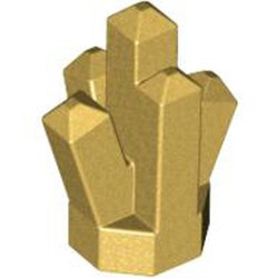 Metallic Gold Rock 1 x 1 Crystal 5 Point - used