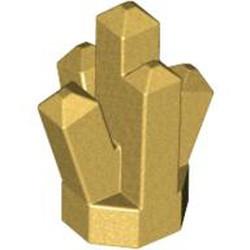 Metallic Gold Rock 1 x 1 Crystal 5 Point