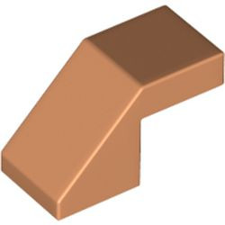 Nougat Slope 45 2 x 1 with Cutout without Stud
