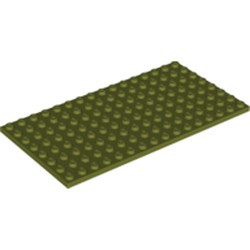 Olive Green Plate 8 x 16