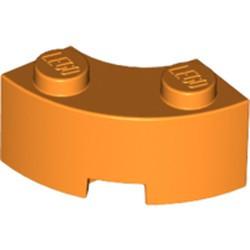 Orange Brick, Round Corner 2 x 2 Macaroni with Stud Notch and Reinforced Underside
