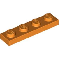 Orange Plate 1 x 4
