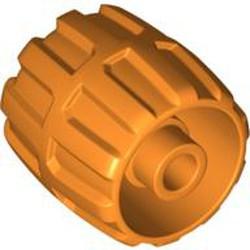 Orange Wheel Hard Plastic Small (22mm D. x 24mm) - used