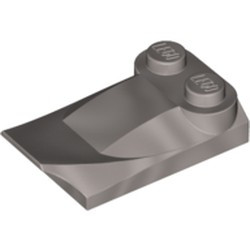 Pearl Light Gray Slope, Curved 3 x 2 x 2/3 with Two Studs, Wing End