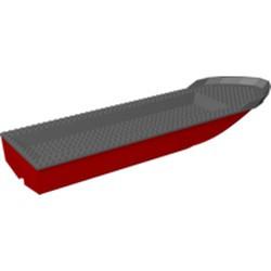 Red Boat, Hull Unitary 51 x 12 x 6 with Dark Bluish Gray Top - new