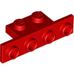 Red Bracket 1 x 2 - 1 x 4