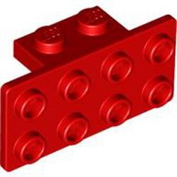 Red Bracket 1 x 2 - 2 x 4 - used