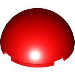 Red Cylinder Hemisphere 4 x 4