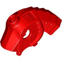 Red Horse Battle Helmet, Stud on Top and 4 Neck Plates (Unicorn) - used