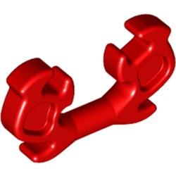 Red Minifigure, Helmet Ninja Horn Elaborate - used