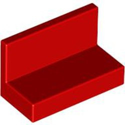 Red Panel 1 x 2 x 1 with Rounded Corners