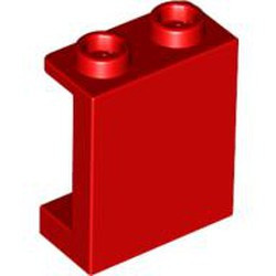 Red Panel 1 x 2 x 2 with Side Supports - Hollow Studs