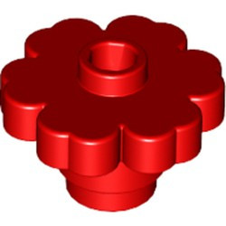 Red Plant Flower 2 x 2 Rounded - Open Stud - used
