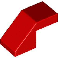 Red Slope 45 2 x 1 with Cutout without Stud