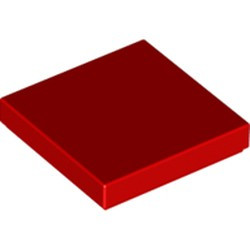 Red Tile 2 x 2 with Groove - used