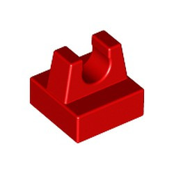 Red Tile, Modified 1 x 1 with Clip