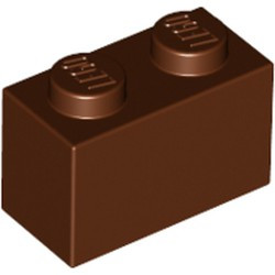 Reddish Brown Brick 1 x 2 - used