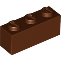 Reddish Brown Brick 1 x 3 - new