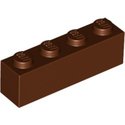 Reddish Brown Brick 1 x 4 - new