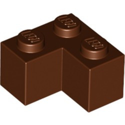 Reddish Brown Brick 2 x 2 Corner - new