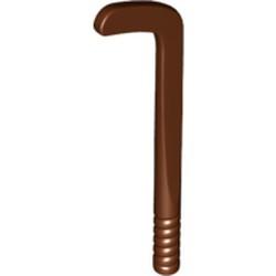 Reddish Brown Minifigure, Utensil Hockey Stick, Tapered Shaft