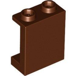 Reddish Brown Panel 1 x 2 x 2 with Side Supports - Hollow Studs - new