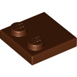 Reddish Brown Tile, Modified 2 x 2 with Studs on Edge