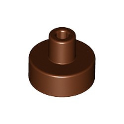 Reddish Brown Tile, Round 1 x 1 with Bar and Pin Holder - new