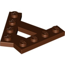 Reddish Brown Wedge, Plate A-Shape with 2 Rows of 4 Studs