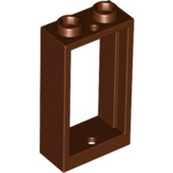 Reddish Brown Window 1 x 2 x 3 Flat Front - new