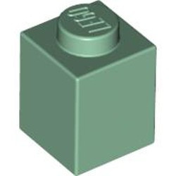 Sand Green Brick 1 x 1 - new