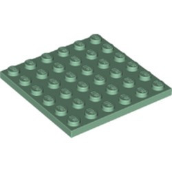 Sand Green Plate 6 x 6 - new
