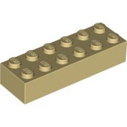 Tan Brick 2 x 6 - new