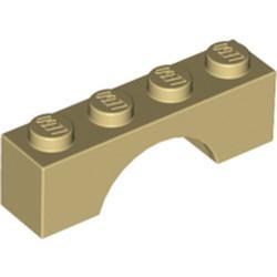 Tan Brick, Arch 1 x 4 - used