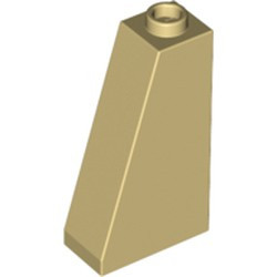 Tan Slope 75 2 x 1 x 3 - Hollow Stud - new