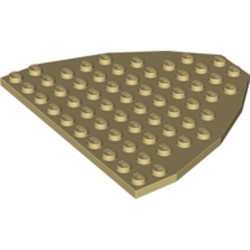 Tan Wedge, Plate 9 x 10 (Boat Bow Plate) - used