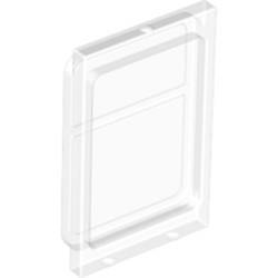 Trans-Clear Glass for Train Door with Lip on Top and Bottom - used