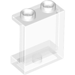 Trans-Clear Panel 1 x 2 x 2 with Side Supports - Hollow Studs