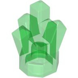 Trans-Green Rock 1 x 1 Crystal 5 Point - new