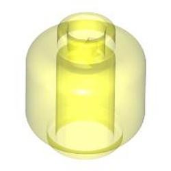 Trans-Neon Green Minifigure, Head (Plain) - used - Hollow Stud