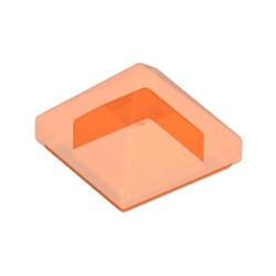 Trans-Neon Orange Slope 45 1 x 1 x 2/3 Quadruple Convex Pyramid