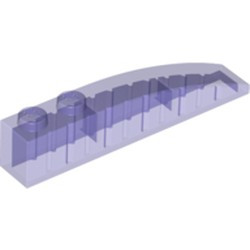 Trans-Purple Slope, Curved 6 x 1 - new