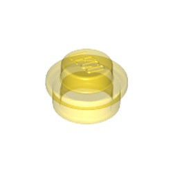 Trans-Yellow Plate, Round 1 x 1 - used