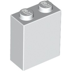 White Brick 1 x 2 x 2 with Inside Stud Holder - new