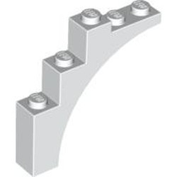 White Brick, Arch 1 x 5 x 4 - Continuous Bow - used