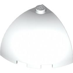 White Brick, Round Corner 3 x 3 x 2 Dome Top - used